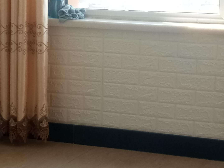 3D立体墙贴自粘墙纸壁纸背景墙客厅卧室装饰儿童房宿舍贴纸防水防撞泡沫软包尺寸77x70cm乳白色【限量款】十片装
