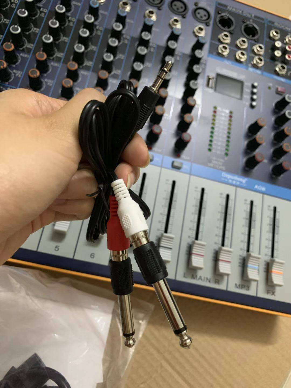 depusheng得普声AG8专业8路调音台舞台户外演出大型带混响效果U盘蓝牙MP3播放多路控制AG8调音台