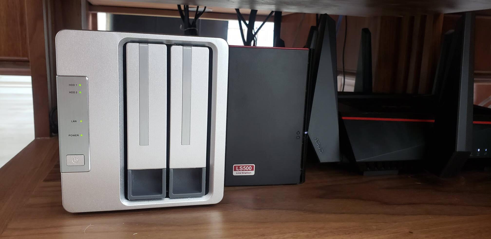 铁威马TERRAMASTERF2-210四核1.4GHz双盘轻量级NAS千兆网络存储私有云存储服务器