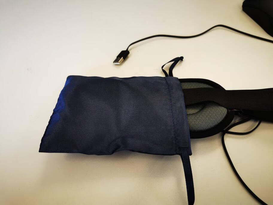 昕科蒸汽热敷眼罩usb充电加热遮光青少年睡眠眼罩恒温持续发热20*9cm基础灰色