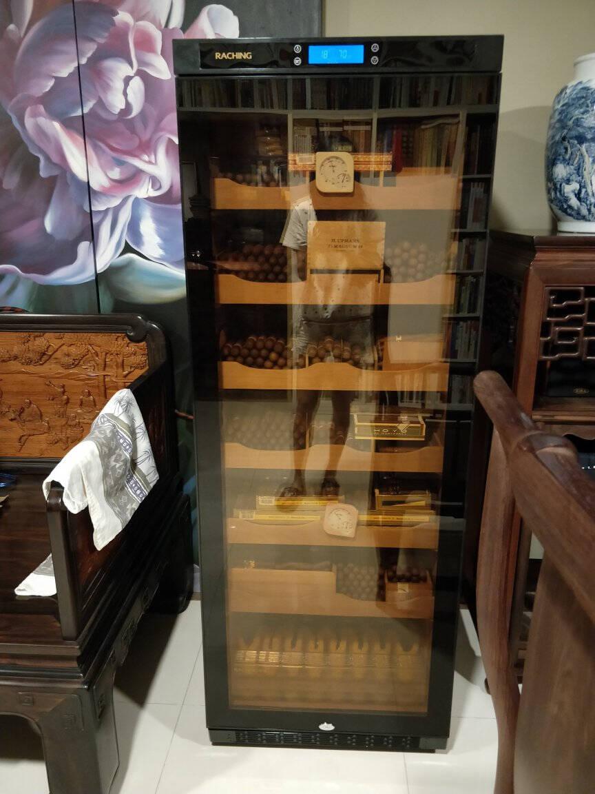 美晶(raching)C330A实木恒温恒湿雪茄柜保湿柜压缩机精准恒温恒湿雪茄保湿柜雪茄盒家用星空黑(西班牙雪松木层架)