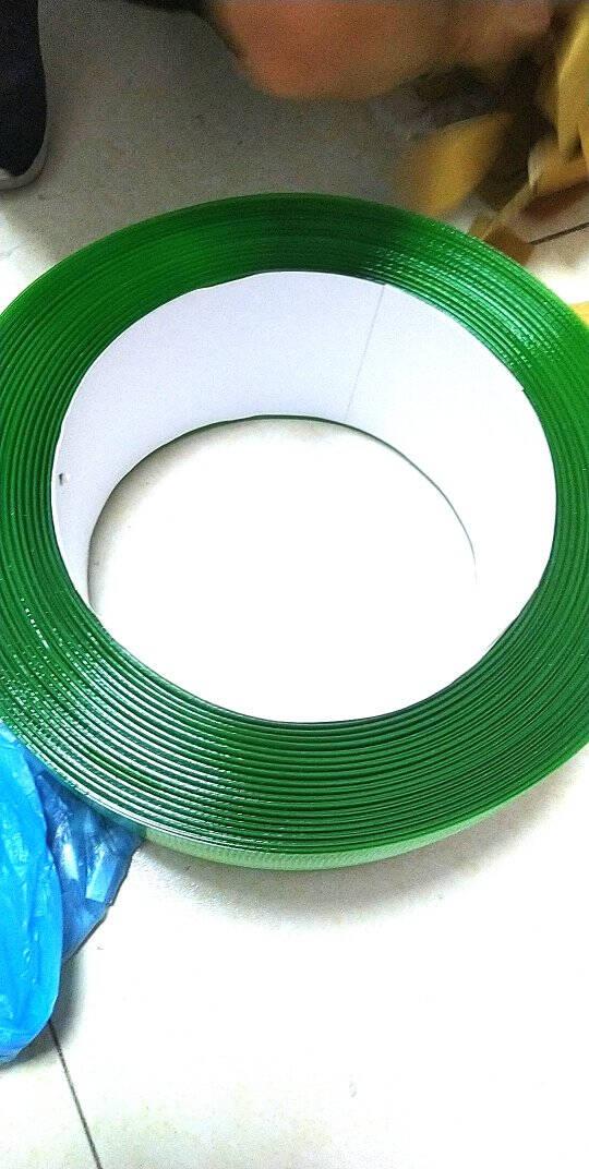 LINGSPET塑钢打包带1608塑钢带捆包带绿色打包带无纸芯700米长度10kg手工编织条