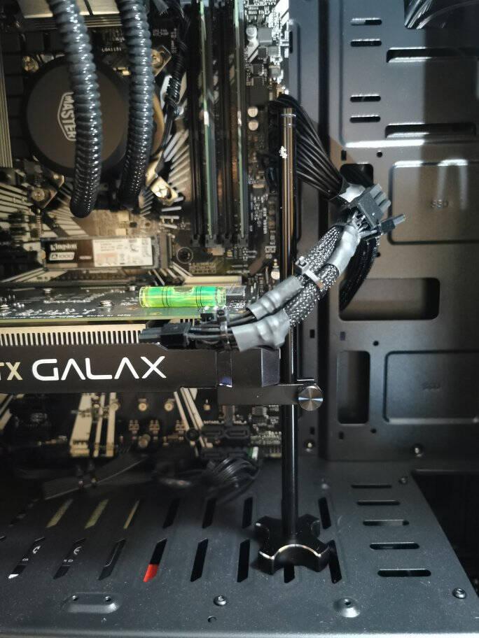 索厉Suoli显卡支架/显卡千斤顶/支撑架/全铝材质底部带磁铁/任意调整固定段/黑色/SL-XK08