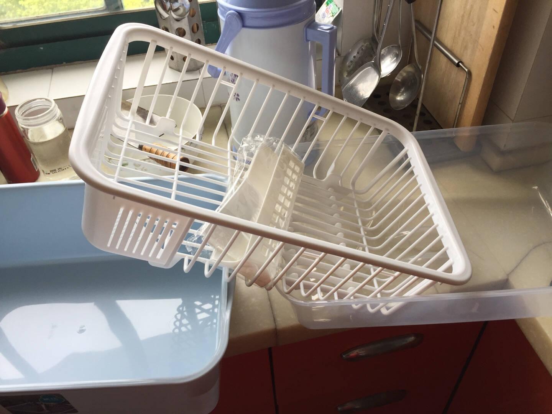 茶花厨房置物架收纳架子大号欧式碗柜1817颜色随机