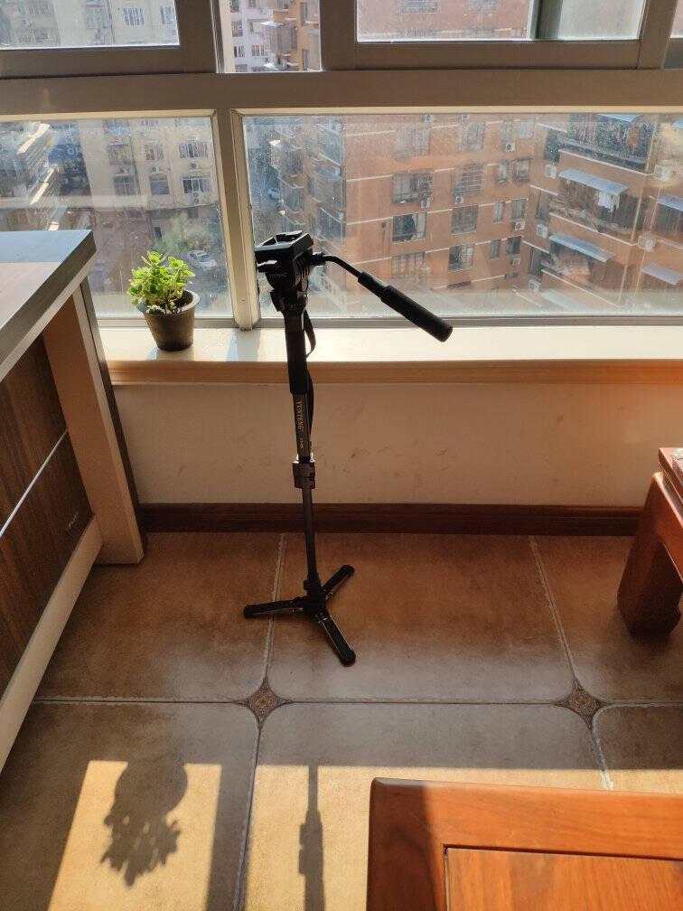 云腾(YUNTENG)VT-8008微电影级专业大型三脚架云台套装微单数码单反相机摄像机用优质铝合金三角架黑色