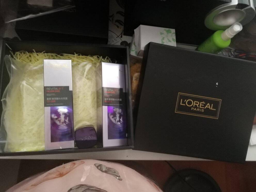 欧莱雅(LOREAL)复颜玻尿酸水乳护肤套装化妆品礼盒礼物送女友送老婆(乳液+晶露)