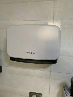 博莎朗(bosharon)新款免打孔擦手纸盒家用厨房壁挂式擦手纸巾盒卫生间抽纸厕所纸巾盒擦手纸架B-255银灰色
