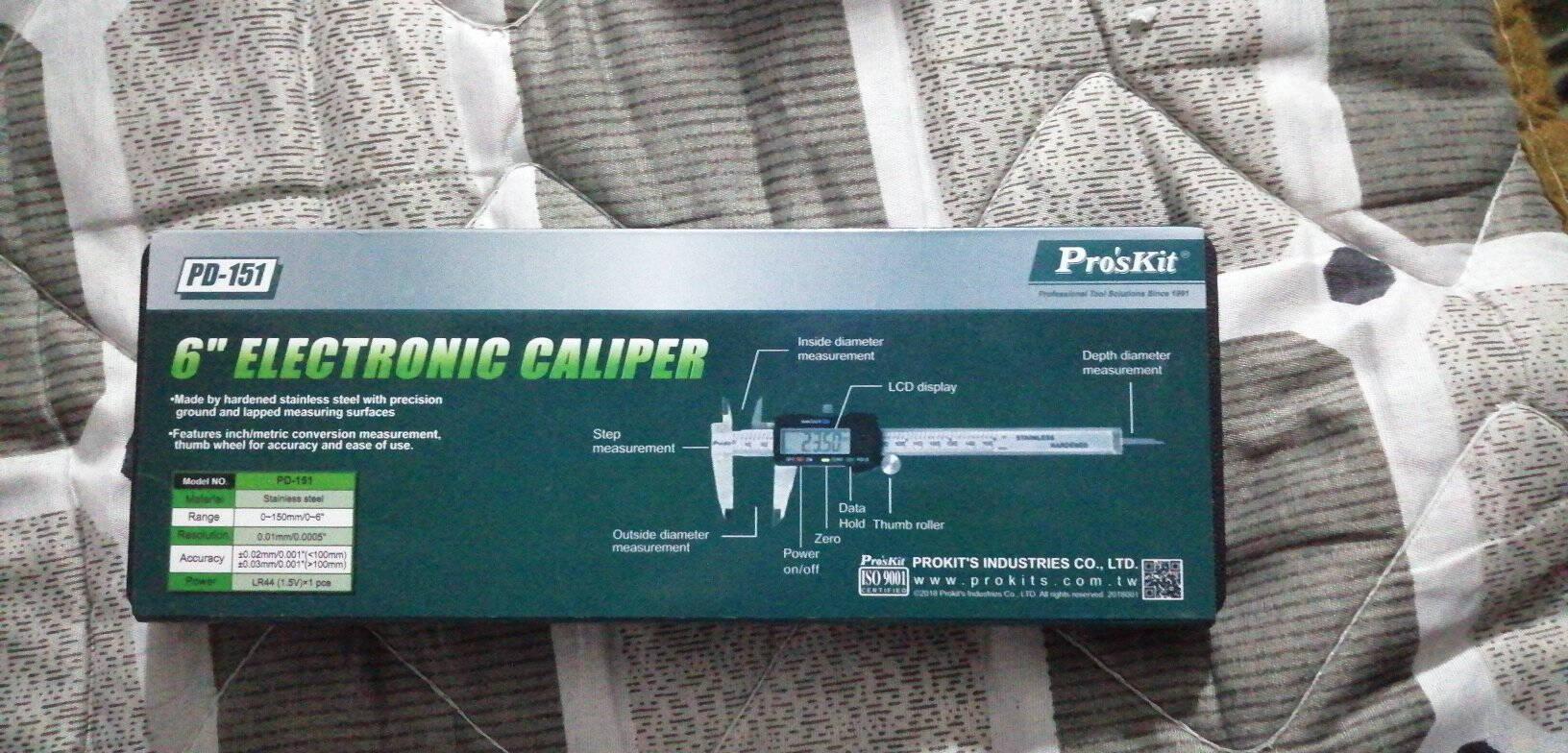 宝工(Proskit)高精度数字型游标卡尺(公英制)不锈钢150mm数显卡尺PD-151