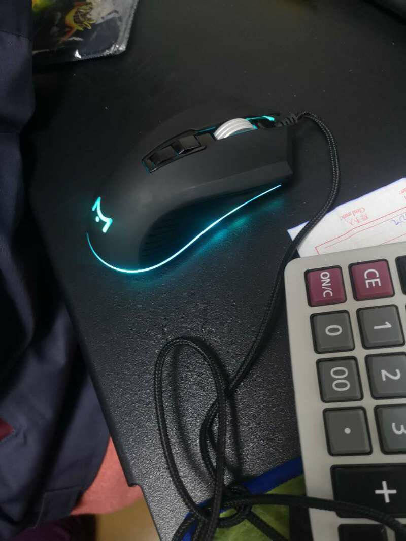 MK100有线静音电竞游戏鼠标背光机械宏编程笔记本办公电脑台式USB绝地求生吃鸡CF英雄联盟lolMK100-科技黑静音鼠标