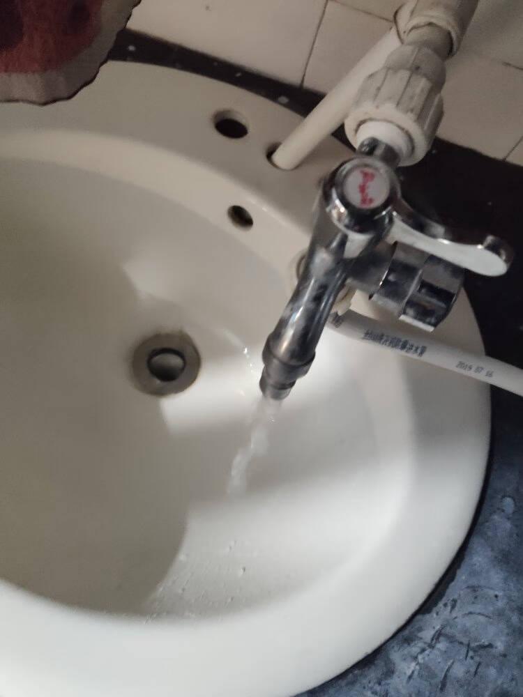 DETBOM洗衣机水龙头一进二出全铜芯三通水龙头双头双用多功能一分二水龙头4分单冷6分水嘴两用4分洗衣机双用