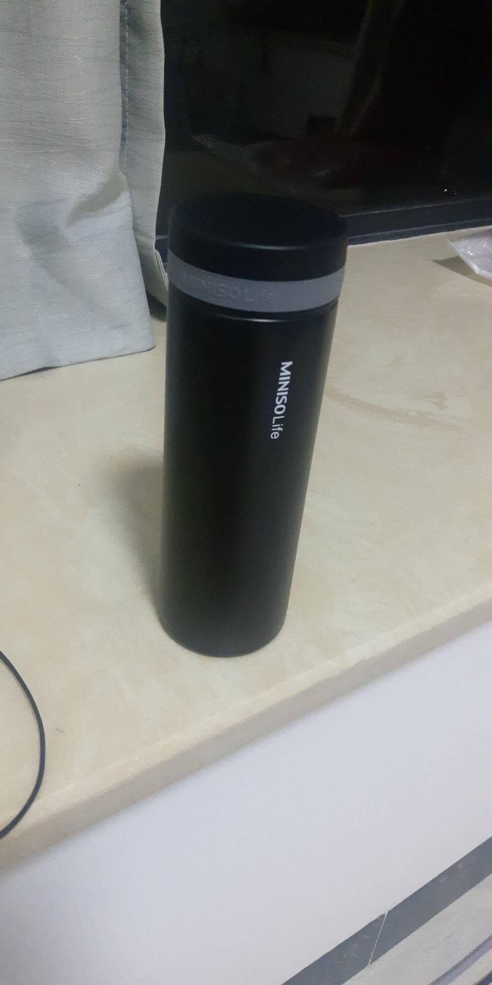 名创优品(MINISO)杯子可口可乐杯吸管杯保冷杯保温杯不锈钢水杯女银色