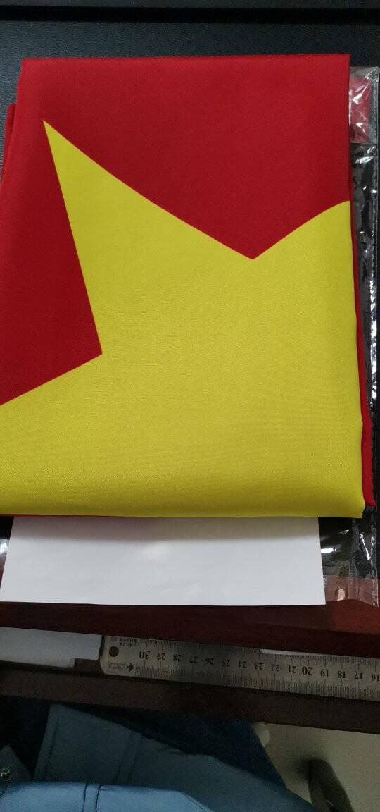 得力(deli)经久耐用3号国旗/五星红旗(128*192cm)办公用品3223