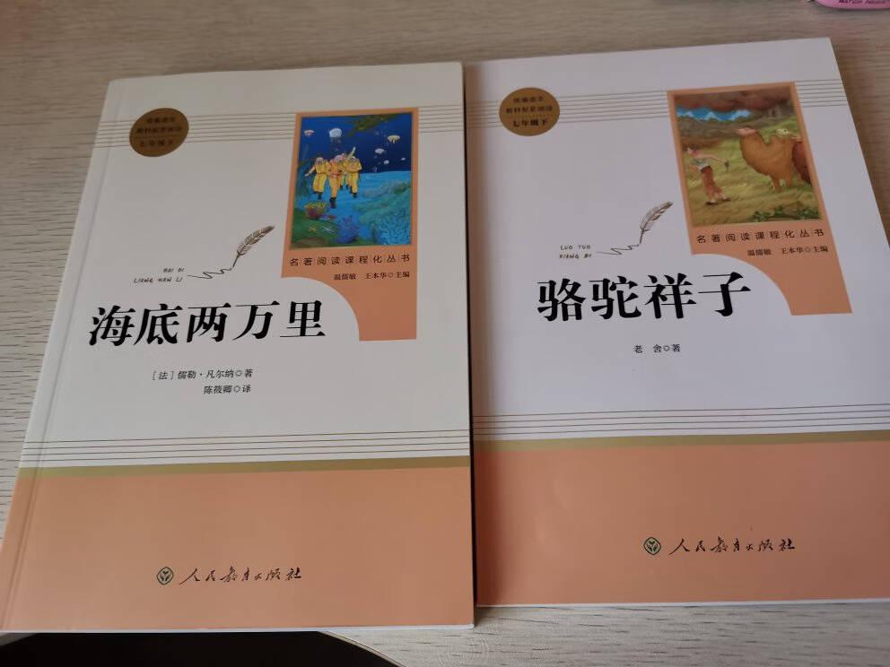 海底两万里+骆驼祥子七年级下册人教版初一语文推荐课外阅读丛书人民教育出版社