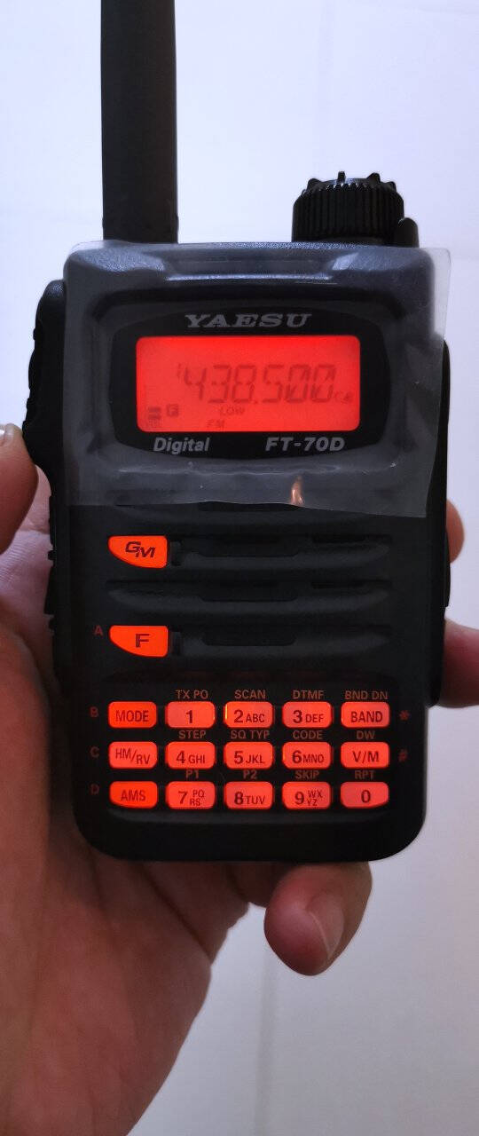 YAESU八重洲FT-70DRUV双频段数字手持对讲机