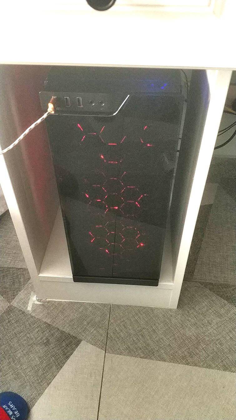 爱国者(aigo)炫影黑电脑机箱+额定650W电竞ES650全模组电脑电源