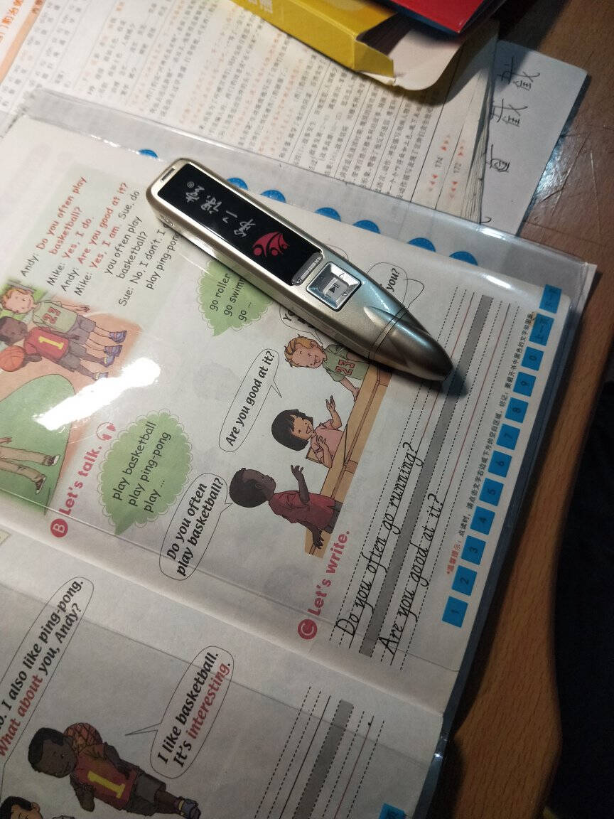 第二课堂英语点读笔通用中小学生课本同步点读机初中高中英语学习机1号标配:可点读中小学英语升级版32G