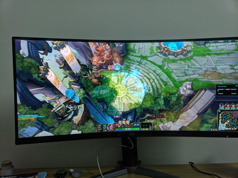 AOC带鱼屏34英寸电竞显示器,非常适合玩游戏和日常工作用