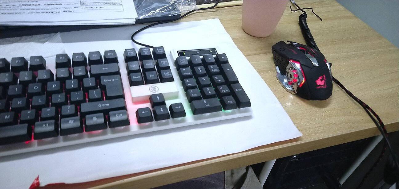 灵蛇(LINGSHE)有线键鼠套装防水游戏键鼠套装背光吃鸡鼠标键盘游戏套装MK235黑色