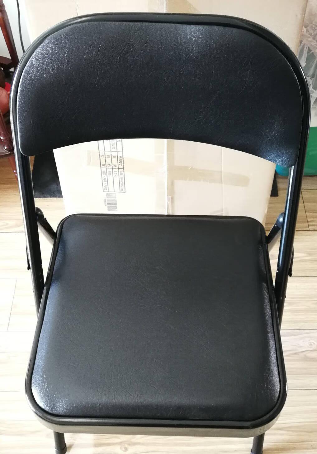家乐铭品折叠椅办公椅会议椅子加固结实培训座椅凳子家用休闲电脑椅靠背椅黑色BZ703