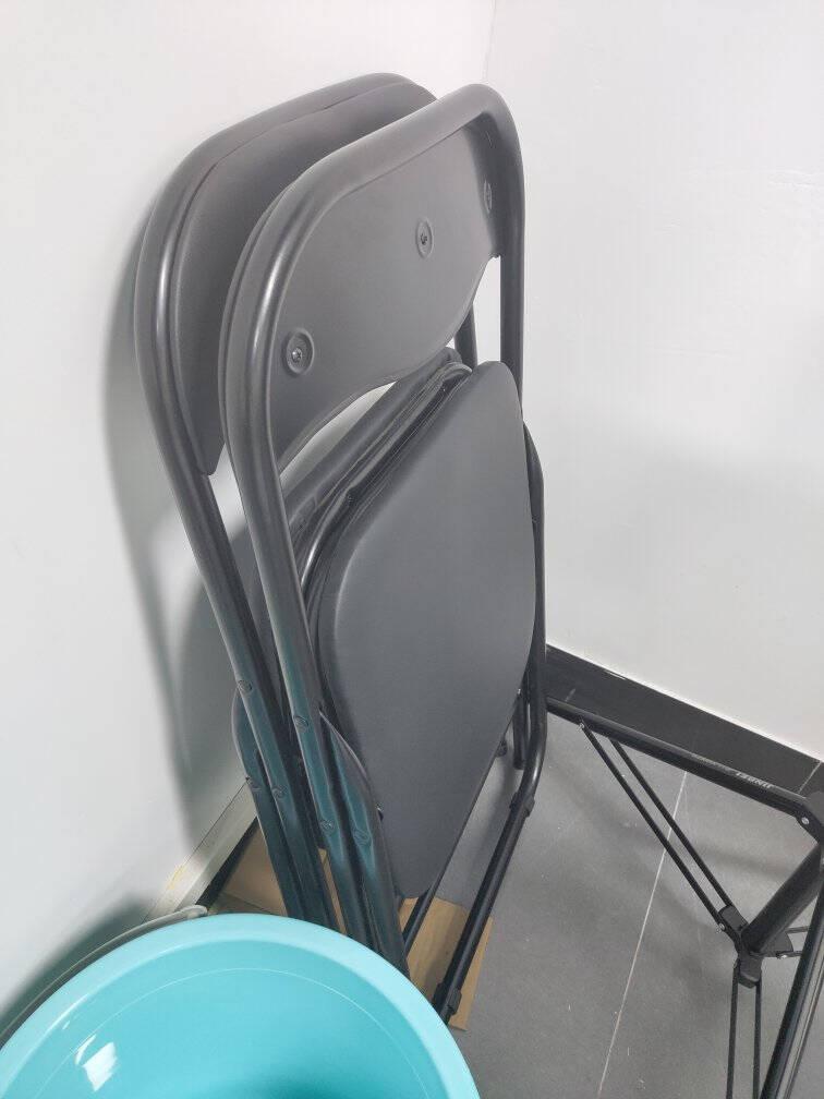 星恺(XINGKAI)折叠椅子家用电脑椅办公椅子培训会议椅学生椅餐椅折叠靠背椅XK1030黑色