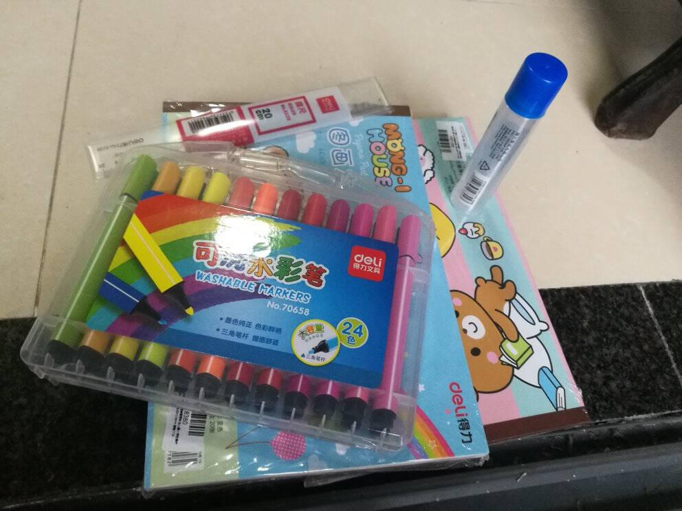 得力(deli)10本20张儿童空白图画本幼儿园小学生美术绘画本画画本儿童涂鸦本280*195mm粉色7717
