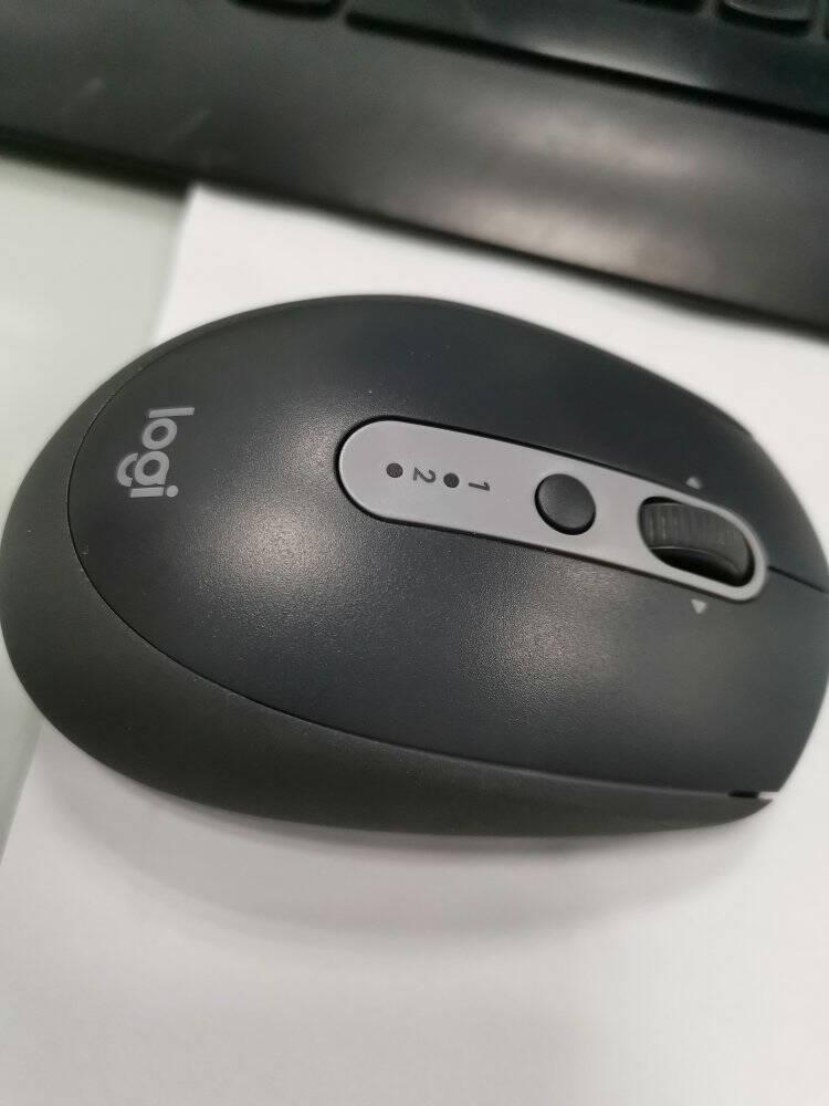 罗技(Logitech)M590鼠标无线蓝牙鼠标办公鼠标静音鼠标对称鼠标优联石墨黑带无线2.4G接收器