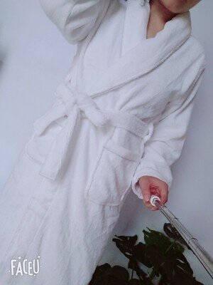 欣美舒纯棉睡袍浴袍毛巾料长款加厚春秋季男女士成人情侣浴衣酒店睡衣大码长款裕袍温泉四季通用高雅豆绿色XL(加肥加大衣长125cm)