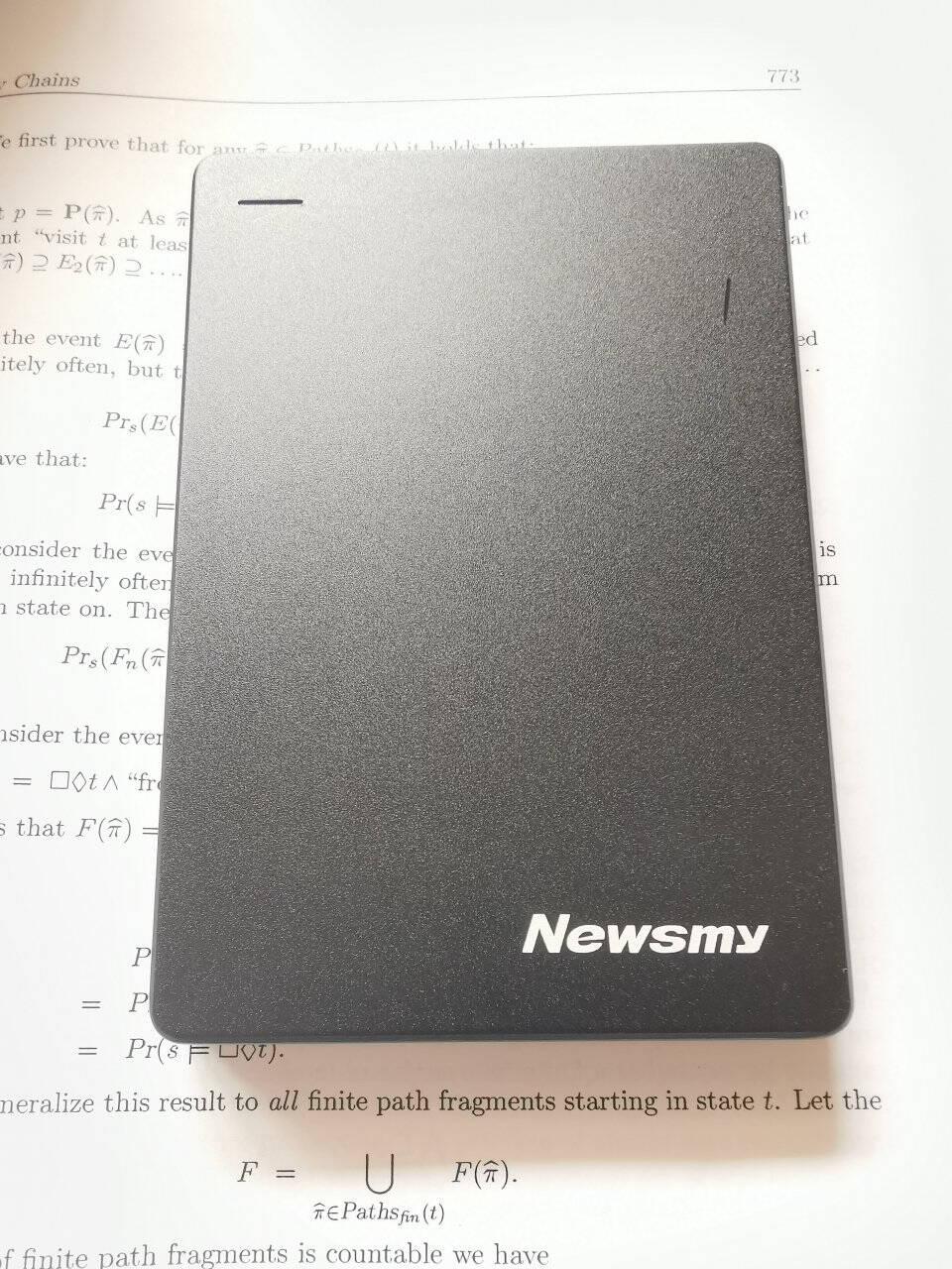 纽曼(Newsmy)500GBUSB3.0移动硬盘星云2.5英寸星空黑数据备份存储稳定耐用