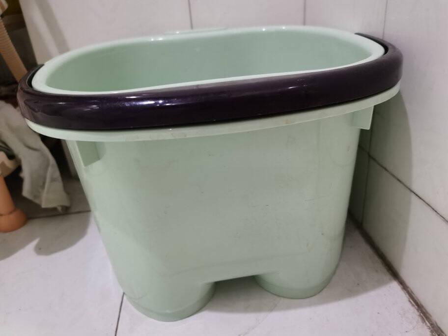 青苇加厚加大洗脚桶洗脚盆足浴桶泡脚盆足疗桶塑料桶水桶塑料盆粉色