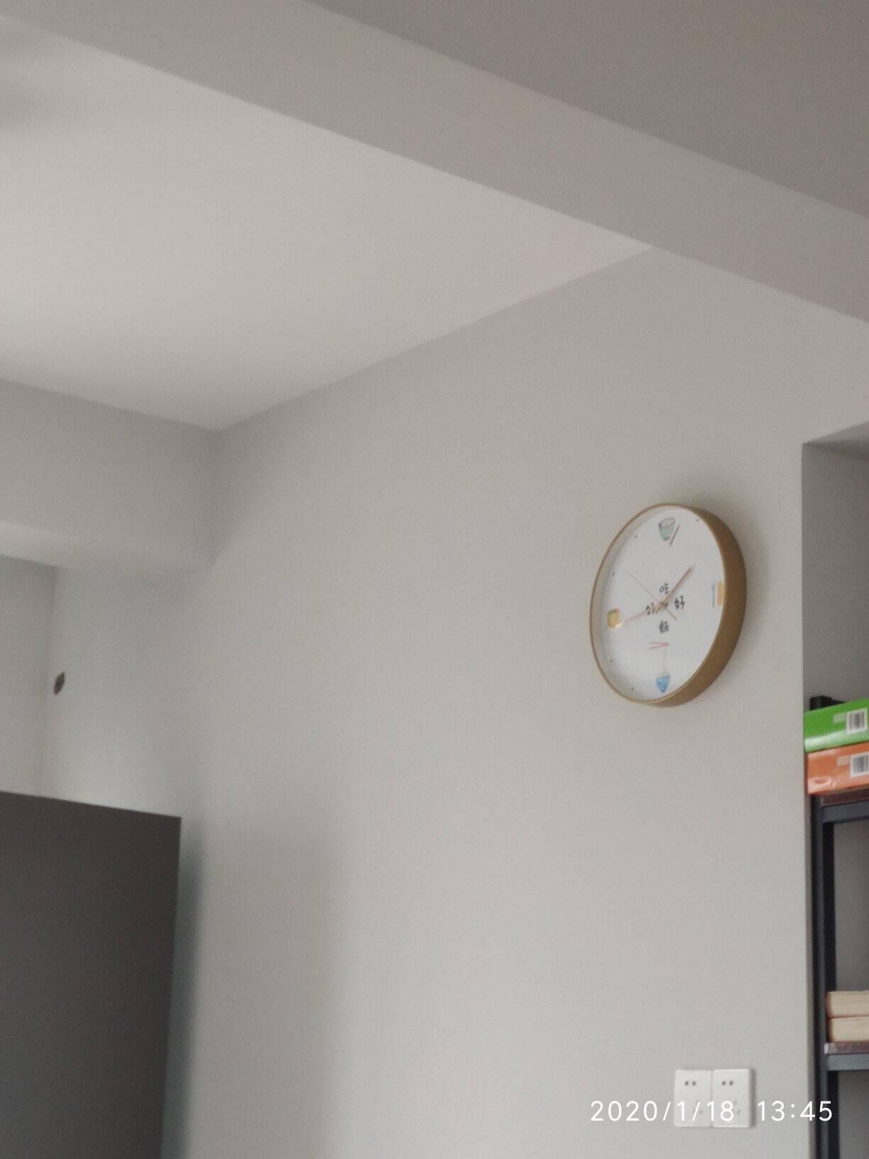 现代简约北欧挂钟客厅卧室个性家用静音时钟创意石英钟表墙上壁钟艺术数字时尚无声欧式免打孔墙壁挂式表挂墙色彩派-A14寸(直径35cm)