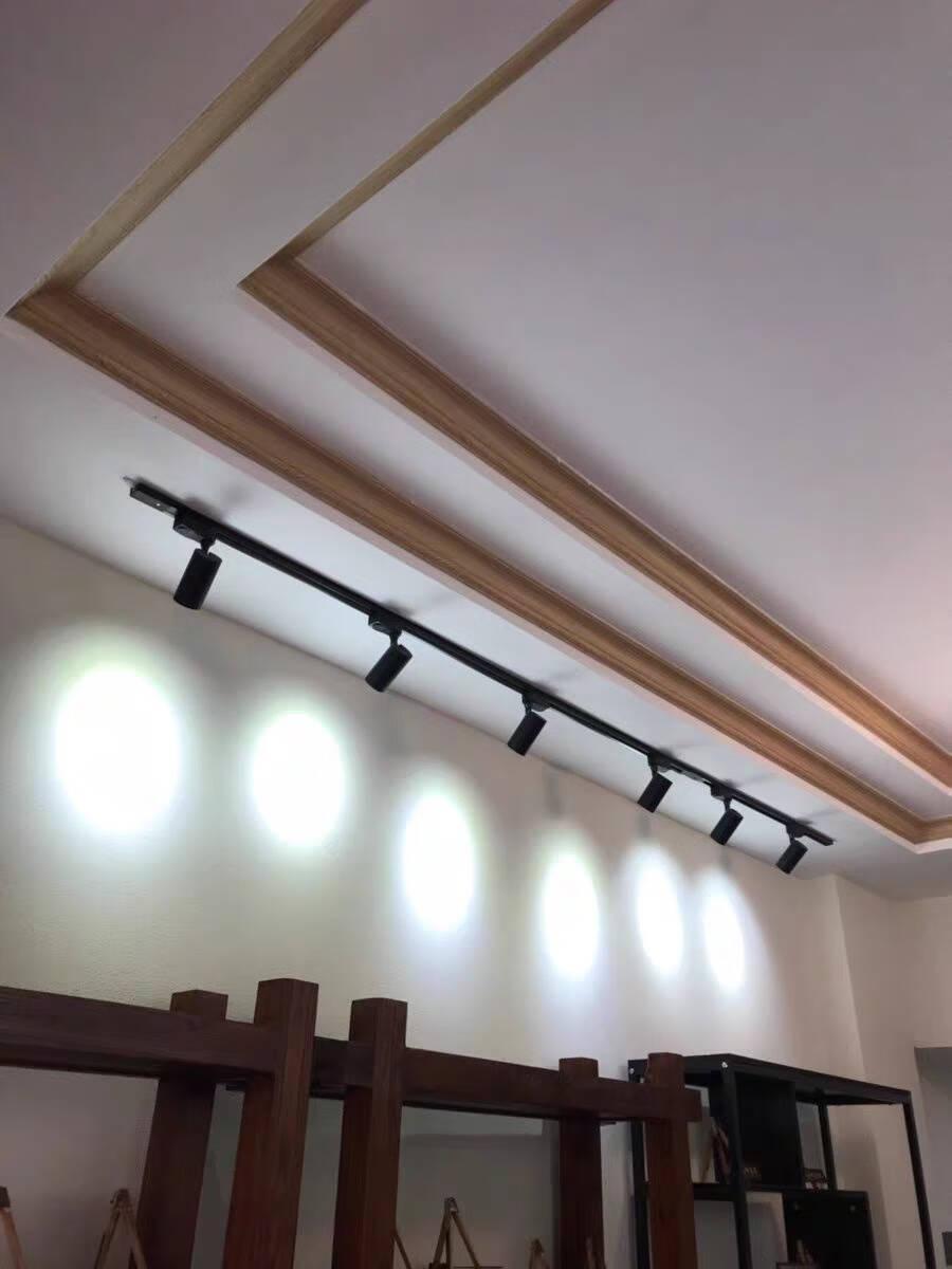 可圣led明装筒灯射灯过道灯走廊灯玄关灯免开孔吸顶灯天花灯具黑色-明装射灯9W【115mm】正白光