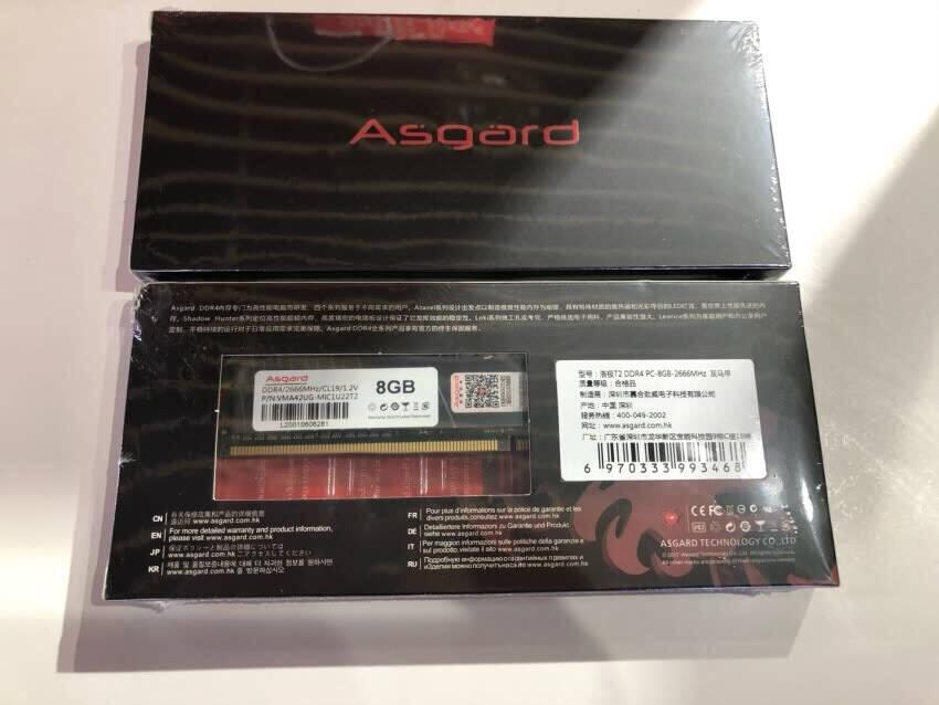 阿斯加特(Asgard)8GB2666频率DDR4台式机内存条洛极51℃灰-游戏利器/电竞超频/T2