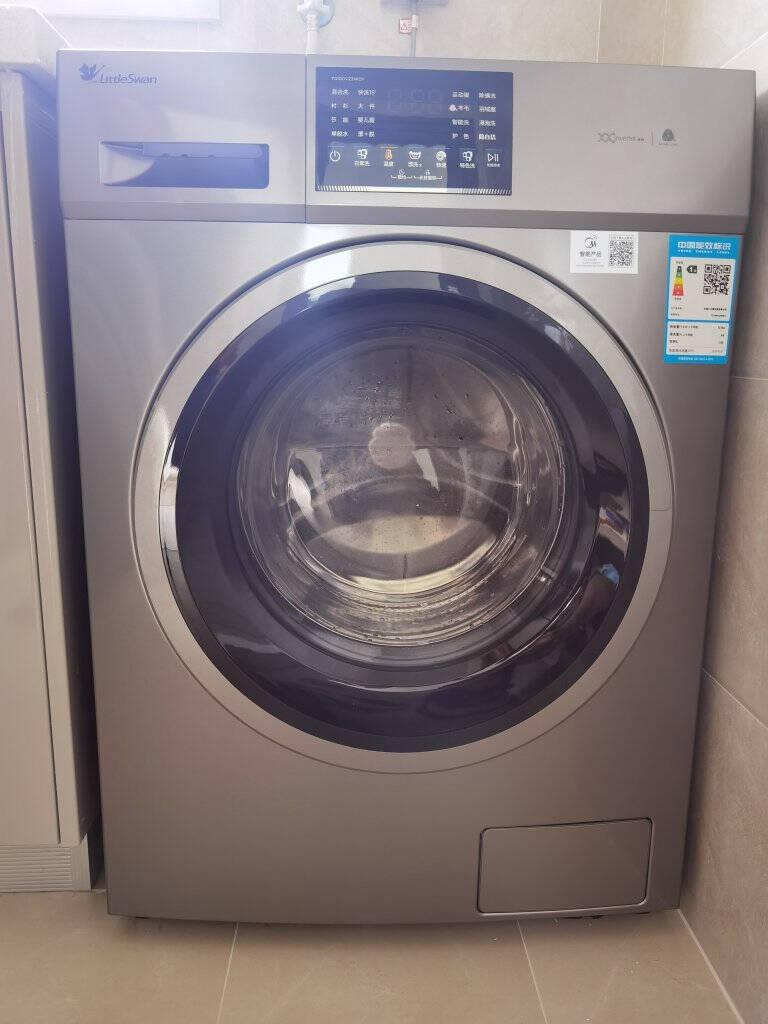 小天鹅(LittleSwan)洗衣机全自动滚筒10公斤kg大容量家用变频除菌消毒洗京品智能家电健康除螨V23WDY