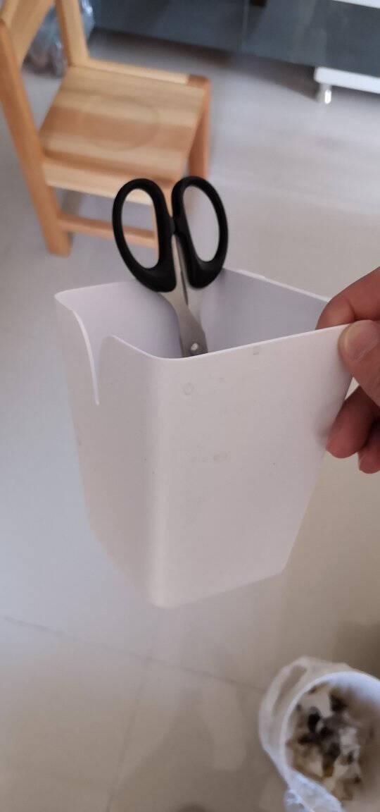 心家宜挂盒厨房置物架收纳盒桌面收纳盒笔筒挂桶杂物收纳167034白色挂盒