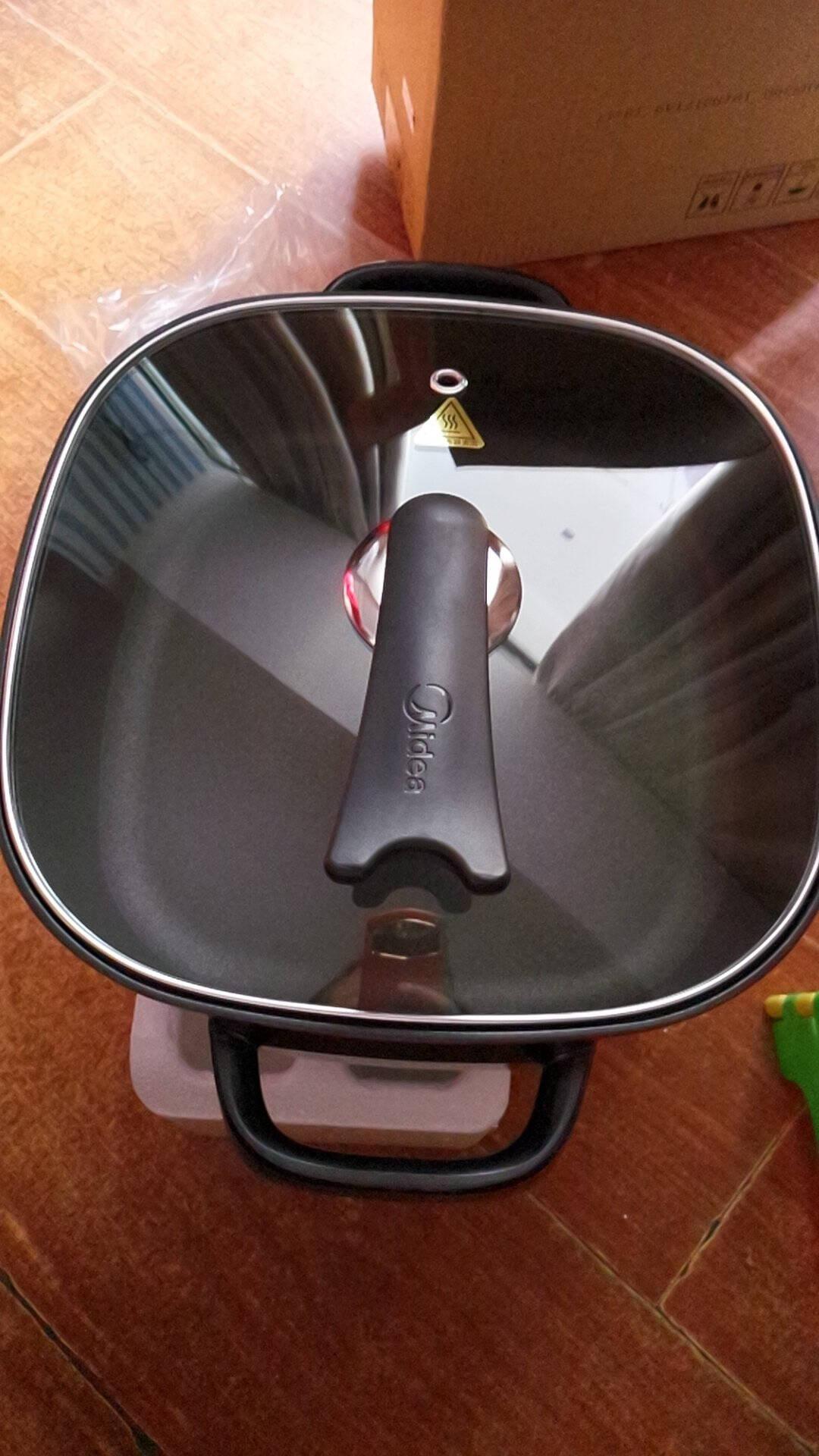 美的(Midea)电火锅电炒锅电煮锅电热锅家用6升大容量一体多用途锅可煎烤LHN30D厂家自营