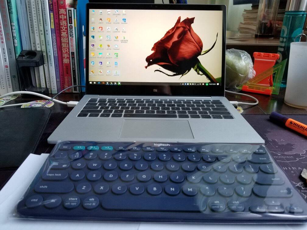 罗技(Logitech)K380键盘无线蓝牙键盘办公键盘女性便携超薄键盘笔记本键盘蓝色