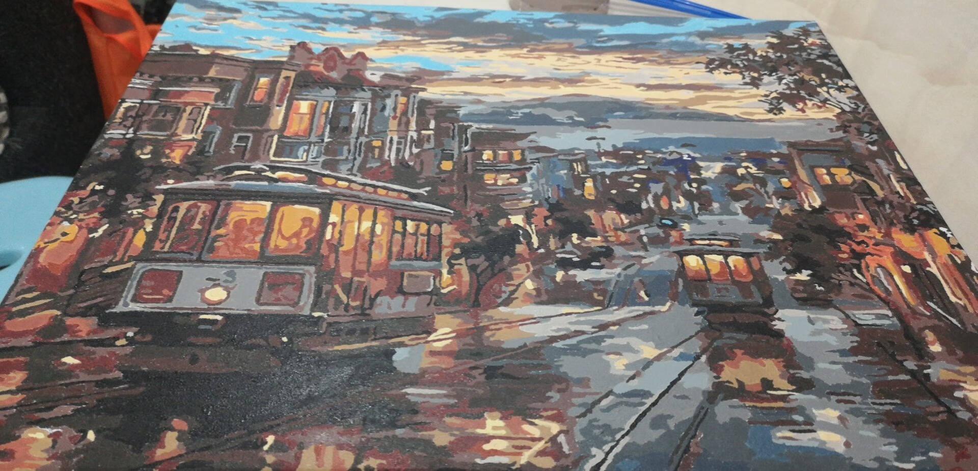 史历克手工diy数字油画手绘上色填色油画客厅餐厅卧室沙发背景墙现代简约装饰画111741117440*50cm(已绑木框)