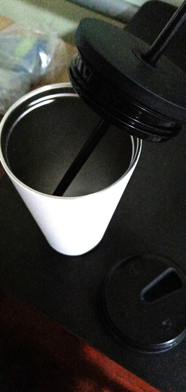simple|modern咖啡杯双盖便捷车载吸管杯办公马克杯成人男女保温学生情侣不锈钢水杯480ml【480ml】灰蓝渐变