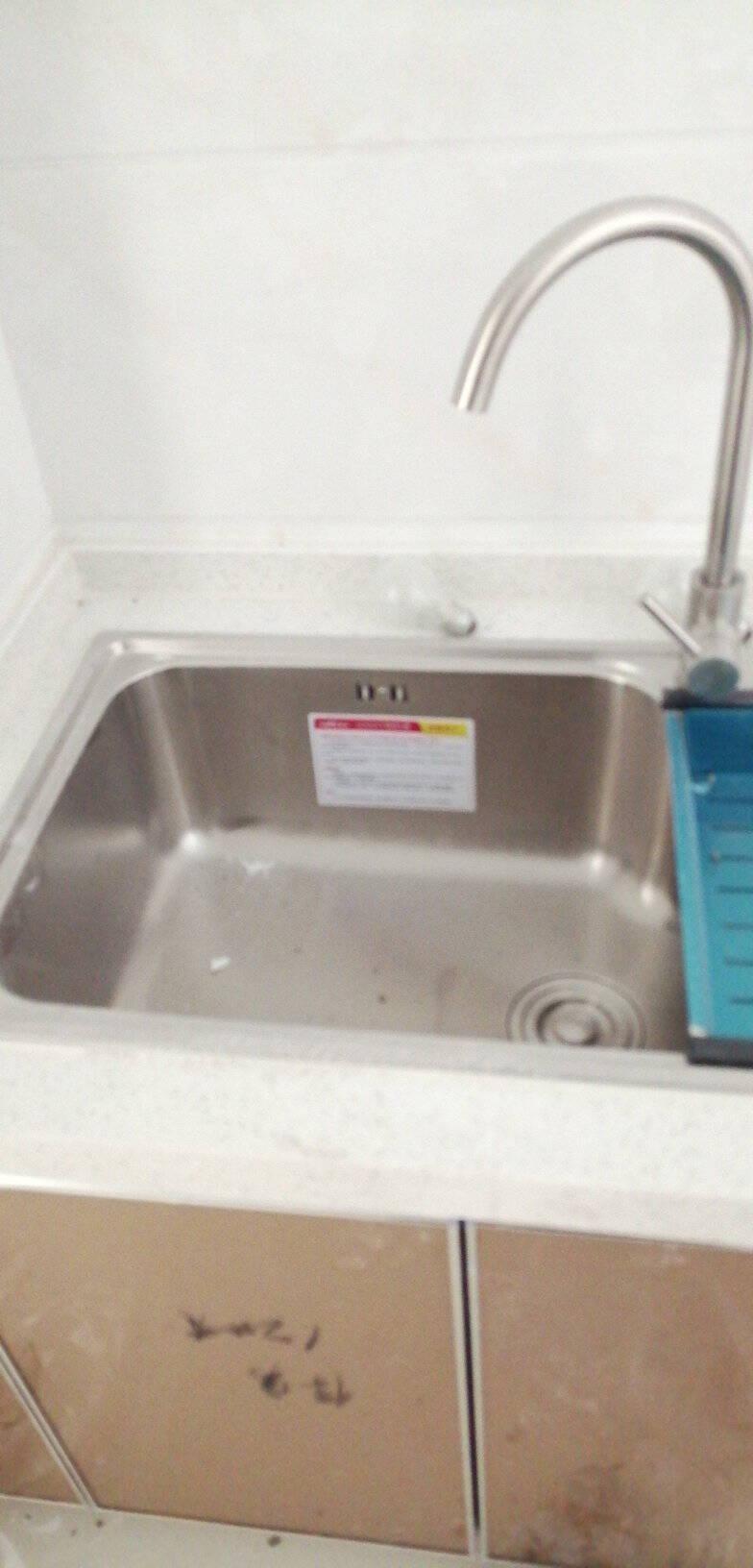 华帝(VATTI)304不锈钢水槽单槽拉丝不锈钢洗菜盆厨房水槽厨房洗碗盆091103(750*450*235)