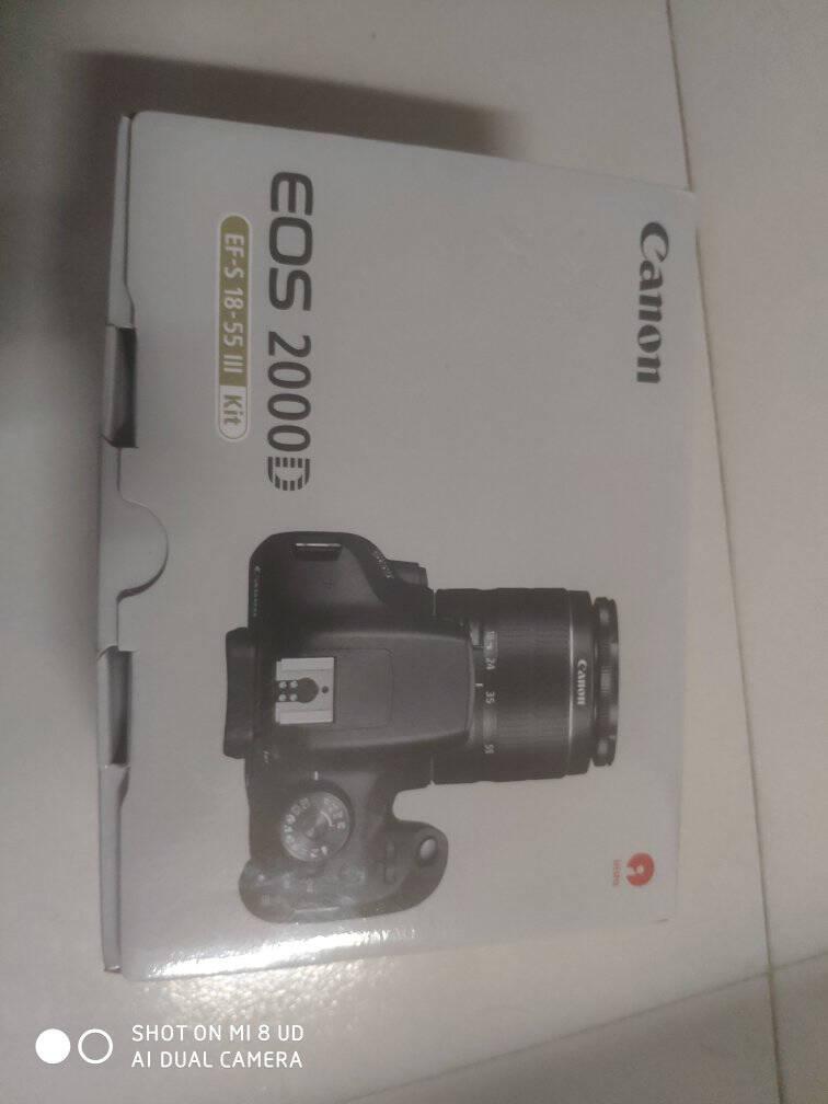 佳能(Canon)EOS2000D18-55套机单反数码相机高清照相机1500D同款新款单机+18-55mmIII镜头