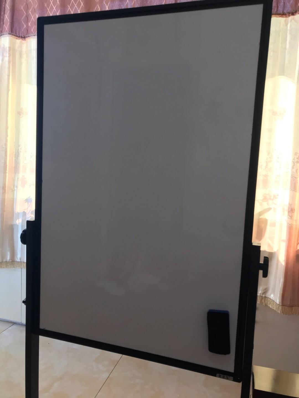 比比牛90*120cm白板支架式移动写字板双面办公会议培训黑板可升降翻转BBNV90120