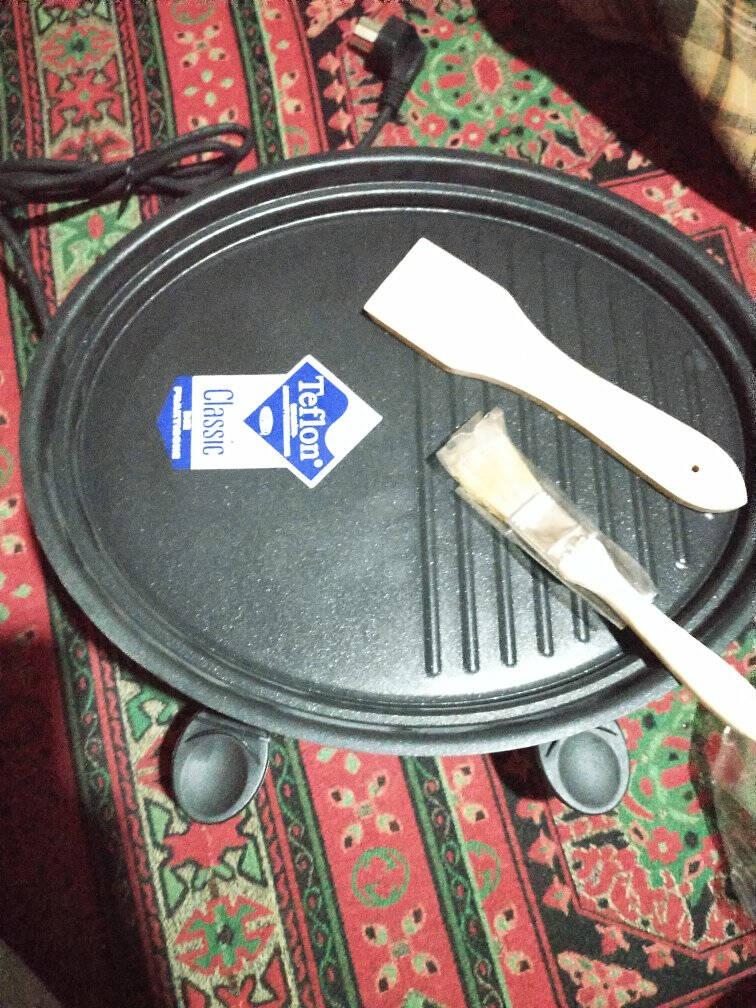 亨博(hengbo)电烧烤炉家用无烟电烤炉韩式不粘电烤盘双层烤肉机HB-515SC-515C