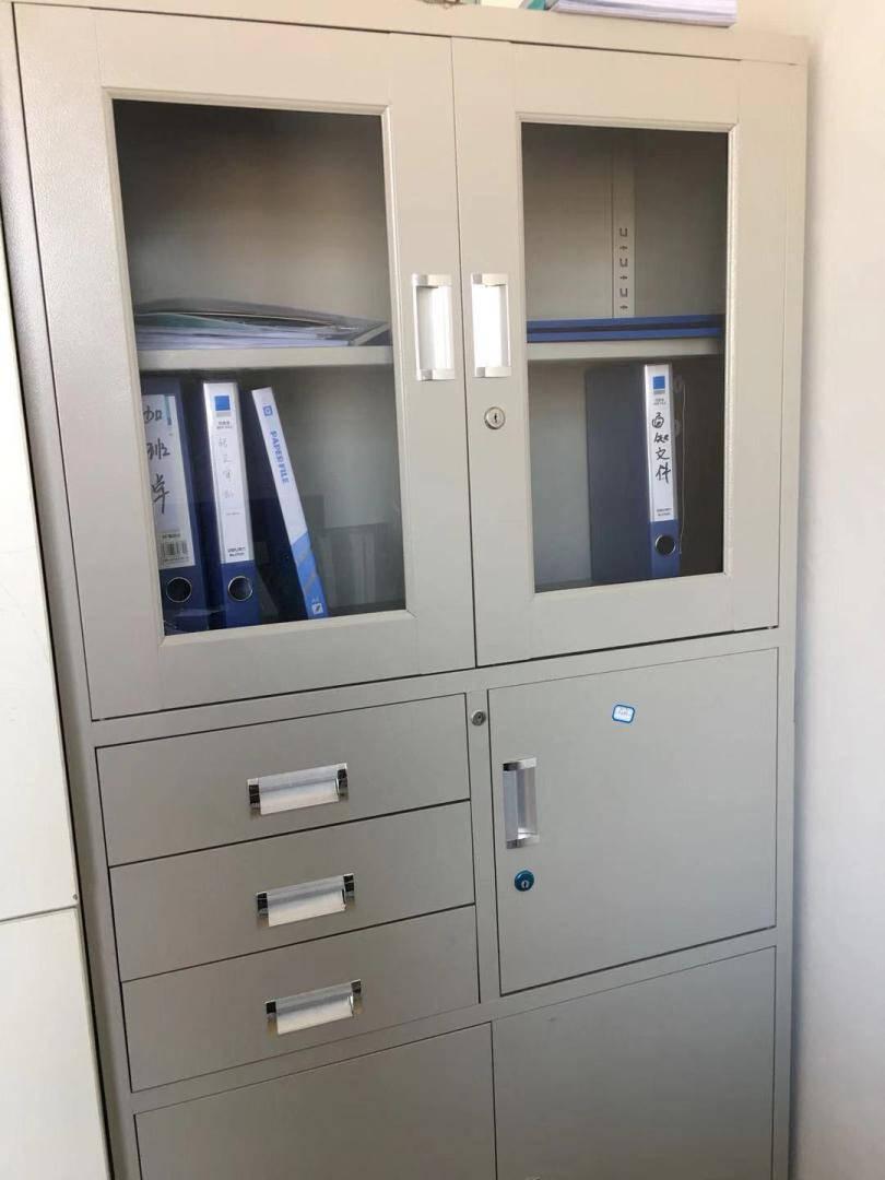 中伟文件柜办公柜钢制铁皮柜资料柜档案柜储物柜偏三抽文件柜
