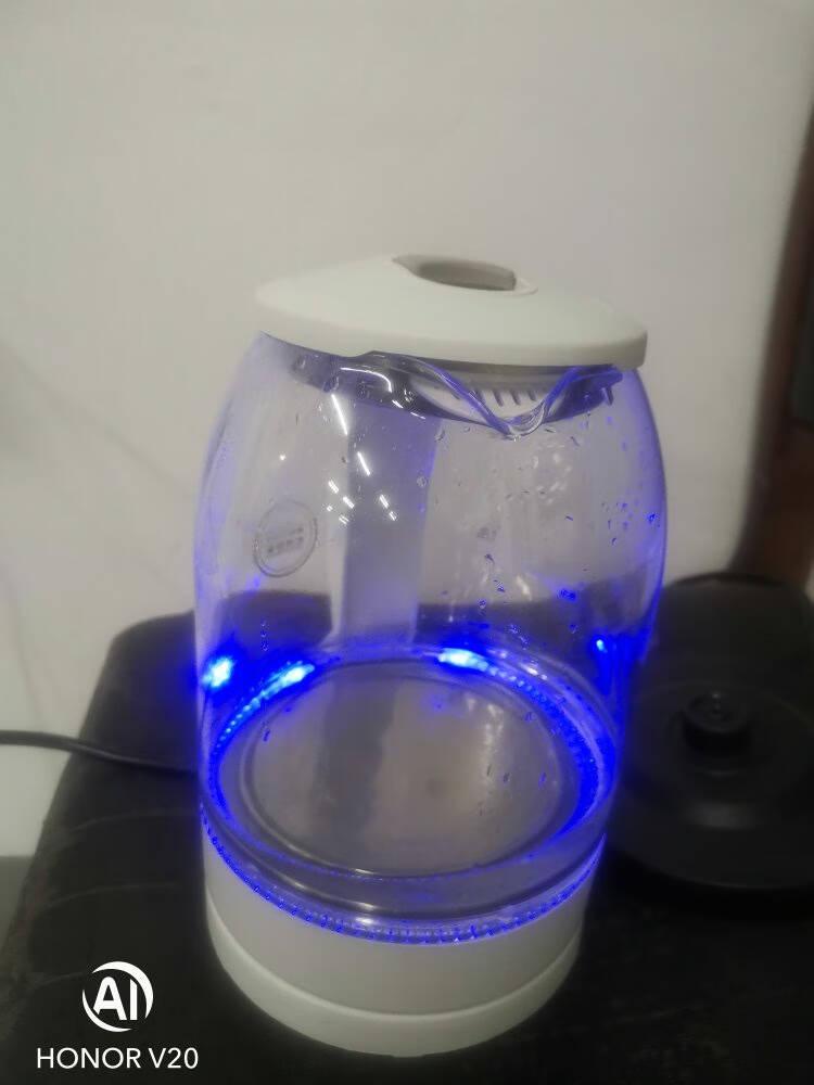 美菱(MeiLing)电水壶1.8L高硼硅玻璃烧水壶热水壶家用电热水壶MH-WB02