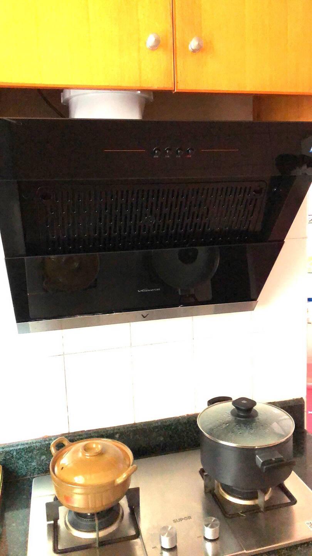 万和Vanward侧吸式抽油烟机单烟机17立方米大吸力一级能效钢化玻璃大面板CXW-260-J320A