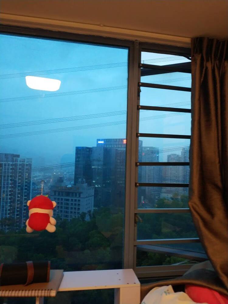 启窗窗户防护栏隐形防盗窗防护网阳台栏杆安全窗围栏儿童安全防护网蓝灰色窗内空50-60厘米/1根