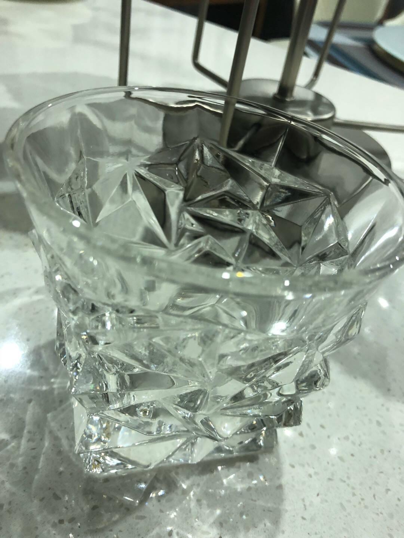 威士忌酒杯家用欧式水晶玻璃洋酒杯酒吧创意钻石八角啤酒杯酒具套装罗马款290ml【买一送一】
