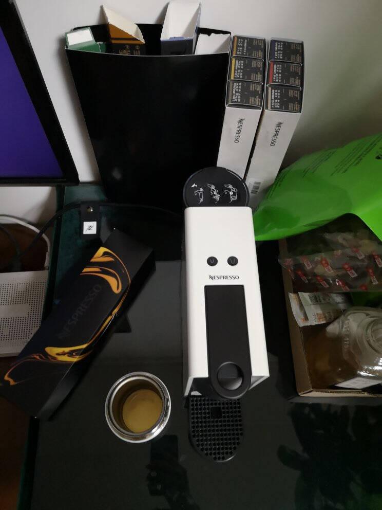 【6.16惊喜预告】Nespresso胶囊咖啡机和胶囊咖啡套装意式全自动家用进口便携咖啡机D30红色及温和淡雅5条装