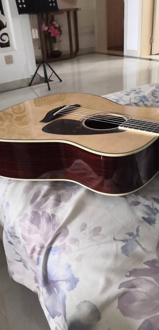 雅马哈(YAMAHA)FG830吉他FGX830C电箱FS830单板民谣FG850面单FGTA加震FGX830C电箱款-原木亮光41寸