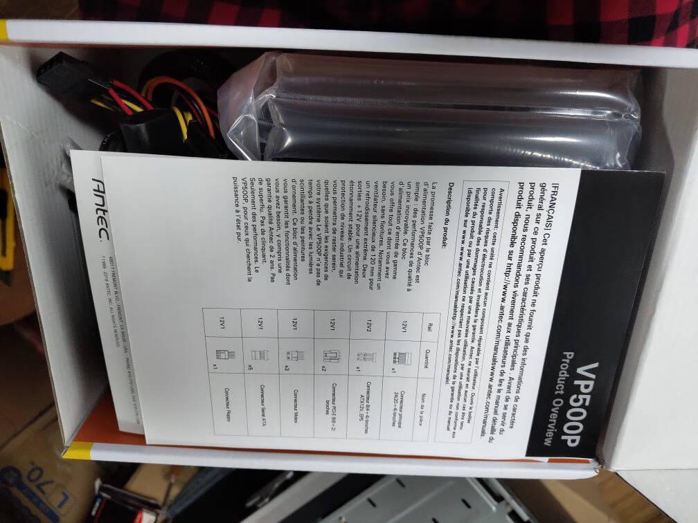 安钛克(Antec)VP500台式机电脑主机机箱电源500W(3年换新/只换不修/53万好评VP系列/静音风扇)